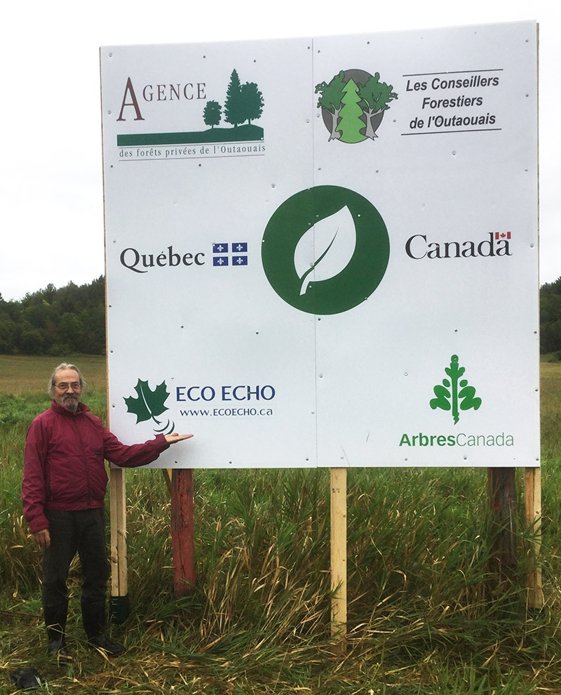 Tree Project Sign at Minnes Farm-September 2020